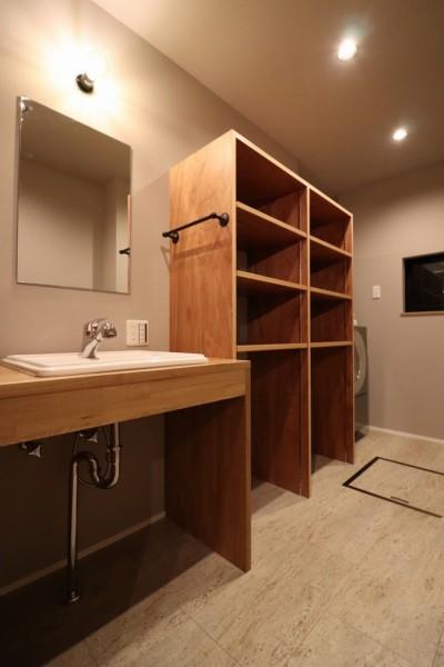 サニタリーの空間デザイン (「住む人が家を好きになる。」カスタマイズする家)