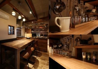 Kitchenオープン棚 (「住む人が家を好きになる。」カスタマイズする家)