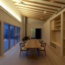 軽井沢の家の写真 家族室(夜景)