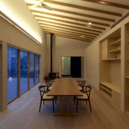 軽井沢の家 (家族室(夜景))