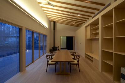 家族室(夜景) (軽井沢の家)
