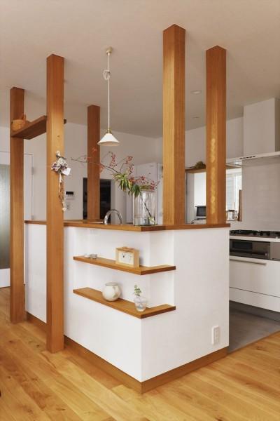 キッチン (S邸「ほっこり」陽だまりの家。)
