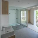 垂井町のコートハウスの写真 パウダールーム バスルーム