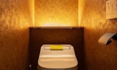 京都市重量鉄骨の家〜狭小住宅リノベーション〜 (toilet)