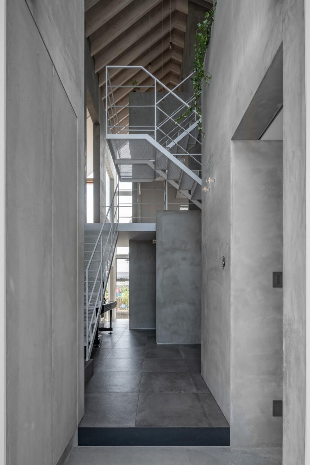 西改田の二世帯住宅 (玄関 動線室)