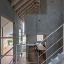 西改田の二世帯住宅の写真 リビング ダイニング バルコニー 3F寝室 動線室