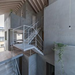 西改田の二世帯住宅 (ダイニング 2F,3F寝室 動線室)