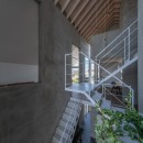 西改田の二世帯住宅の写真 リビング ダイニング 2F,3F寝室 動線室