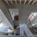 西改田の二世帯住宅の写真 リビング ダイニング 2F,3F寝室 玄関 動線室