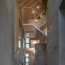 西改田の二世帯住宅の写真 動線室 夜景