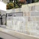 風知蒼の住宅事例「諏訪鉄平で趣ある門構え」