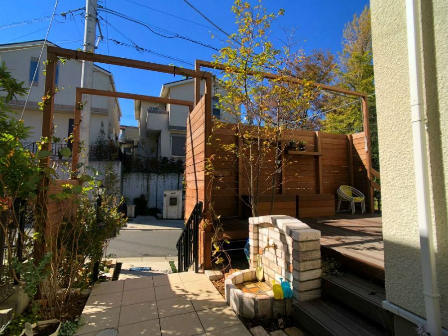 建て売り×カフェ庭リフォーム (庭)
