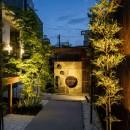 風知蒼の住宅事例「旗竿地の和風アプローチ集合住宅」