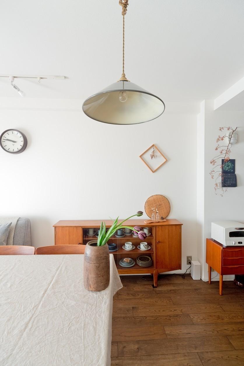 兵庫県S邸  − 北欧のヴィンテージ家具を素敵に魅せる家 − (リビング・ダイニング)