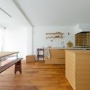 兵庫県N邸 − 壁の色で異なる雰囲気が楽しいお家 −の写真 キッチン・ダイニング