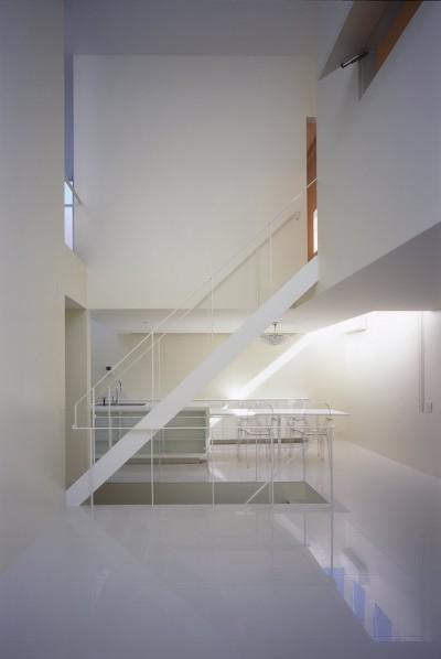 2階リビング,ダイニング,キッチン (門前仲町の住宅)