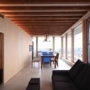 清流の家~眺望のよい2世帯住宅~の写真 化粧梁がリズム感を生む