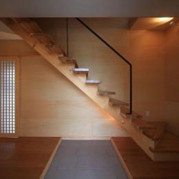 清流の家~眺望のよい2世帯住宅~ (ストリップ階段)