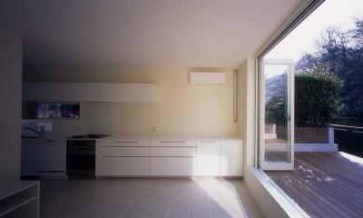 祖師谷の住宅 (1階LDKスペース)