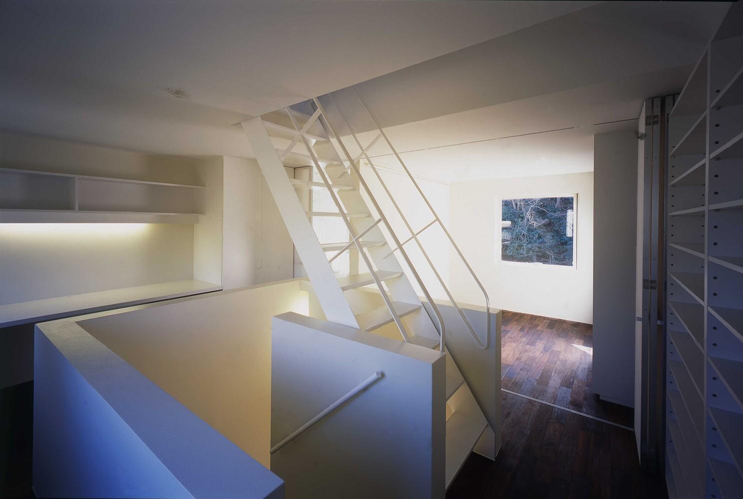 ベッドルーム事例:2階寝室(祖師谷の住宅)