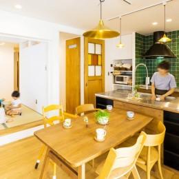 récolte - 実家リノベで雑貨とグリーンと思い出に囲まれて暮らす (ダイニングキッチン)