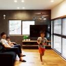 Legrand - アイランドキッチンを中心にぐるり。コンパクトな動線で家事効率UP!の写真 リビング