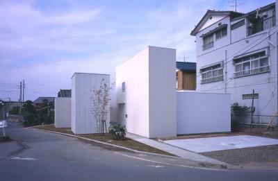 外観(道路側) (富津の2世帯住宅)