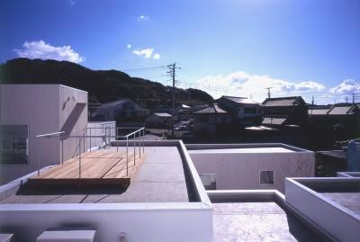 屋上テラス (富津の2世帯住宅)