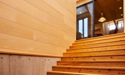 西魚の家~中古住宅を購入してスケルトンリノベーション~ (大階段サンルーム)