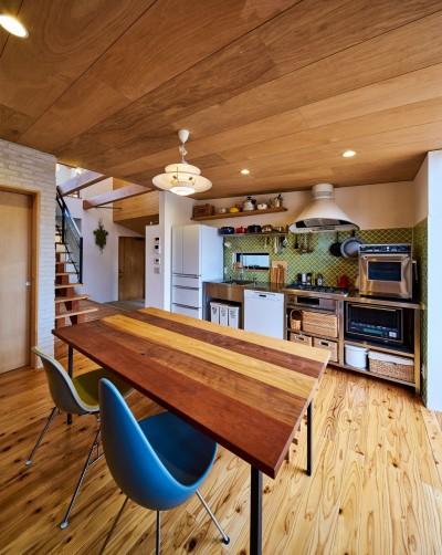 西魚の家~中古住宅を購入してスケルトンリノベーション~ (使いやすいステンレスキッチン)