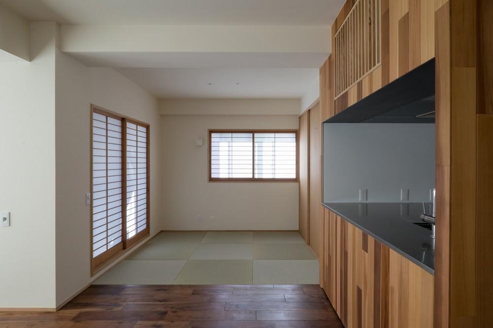 神楽坂の家 回遊できる小さな木の家|改修 (畳の間)