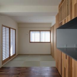 畳の間 (神楽坂の家 回遊できる小さな木の家|改修)