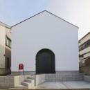 建もの探訪で放送 ピアノ室のある狭小住宅・スキップフロアを生かしたOUCHI-29の写真 イエ型の外観