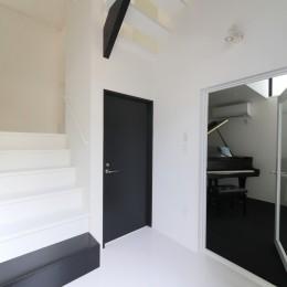 ピアノ室のある狭小住宅・スキップフロアを生かしたOUCHI-29