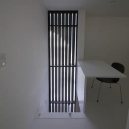建もの探訪で放送 ピアノ室のある狭小住宅・スキップフロアを生かしたOUCHI-29 (寝室の家事コーナー)