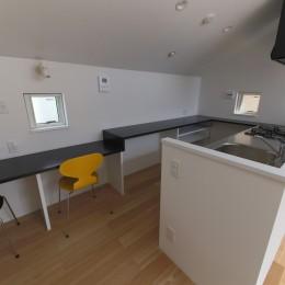 建もの探訪で放送 ピアノ室のある狭小住宅・スキップフロアを生かしたOUCHI-29 (勉強コーナー・主婦コーナー)