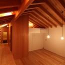 瀬谷の書斎 - 木造平屋の離れの写真 本棚とリビング