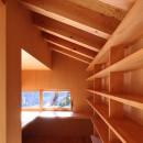 瀬谷の書斎 - 木造平屋の離れの写真 造付L字テーブルのある書斎