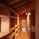 瀬谷の書斎 - 木造平屋の離れの写真 書棚と飾り棚