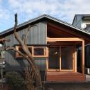 瀬谷の書斎 - 木造平屋の離れの写真 屋根のあるテラス