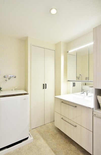 洗面室 (ストレスフリーなアーバンシンプルリノベーション)