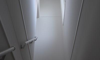 F邸 (階段の象徴的なライト)