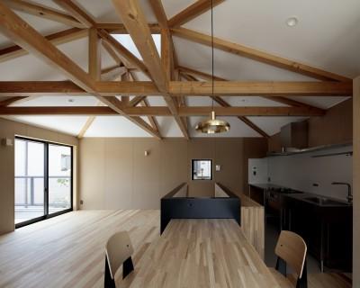 リビングダイニングキッチン (光束の家)