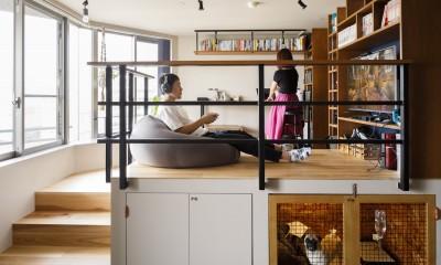 chill vill-愛犬と一緒にのびのび暮らしたい。スキップフロアでつながる空間 (リビングとchillのお部屋)