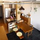 chill vill-愛犬と一緒にのびのび暮らしたい。スキップフロアでつながる空間の写真 ダイニングキッチン