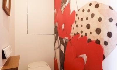 chill vill-愛犬と一緒にのびのび暮らしたい。スキップフロアでつながる空間 (トイレ)