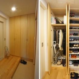 江古田の家 ―夫婦で趣味を楽しむ (玄関)