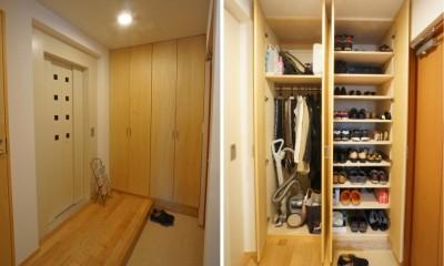 玄関|江古田の家 ―夫婦で趣味を楽しむ
