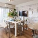 壁紙 WhO(フー)の住宅事例「白を基調としたナチュラルなモデルルーム」