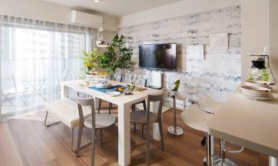 ダイニングキッチン|白を基調としたナチュラルなモデルルーム